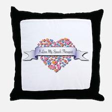 Love My Speech Therapist Throw Pillow