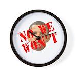 No We Won't Wall Clock
