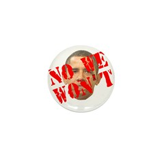 No We Won't Mini Button (100 pack)