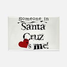 Santa Cruz Loves Me Rectangle Magnet