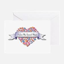 Love My Spanish Major Greeting Card