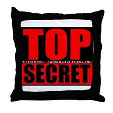 Top Secret Throw Pillow
