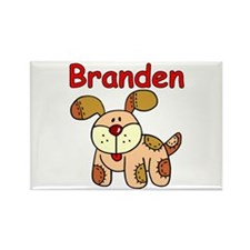 Branden Puppy Rectangle Magnet