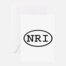 NRI Oval Greeting Card