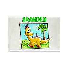Branden Dinosaur Rectangle Magnet