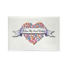 Love My Social Worker Rectangle Magnet