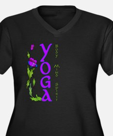 Body, Mind, and Spirit Women's Plus Size V-Neck Da