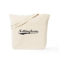 Vintage Nottingham (Black) Tote Bag