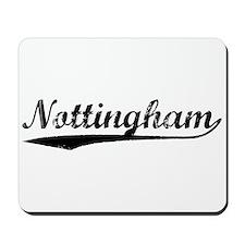 Vintage Nottingham (Black) Mousepad