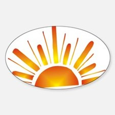 SUNSET (1) Oval Decal