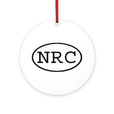 NRC Oval Ornament (Round)