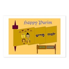 Happy Purim Postcards (Package of 8)