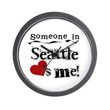Seattle Loves Me Wall Clock