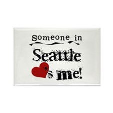 Seattle Loves Me Rectangle Magnet