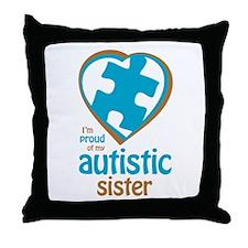 Proud of Sister (3BB) Throw Pillow