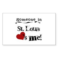 St. Louis Loves Me Rectangle Decal
