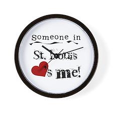 St. Louis Loves Me Wall Clock