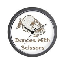 Dances With Scissors Wall Clock