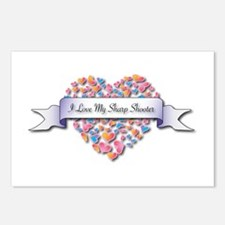 Love My Sharp Shooter Postcards (Package of 8)