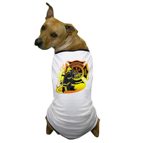 Firefighter With Maltese Cross Dog T-Shirt