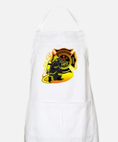 Firefighter With Maltese Cross BBQ Apron