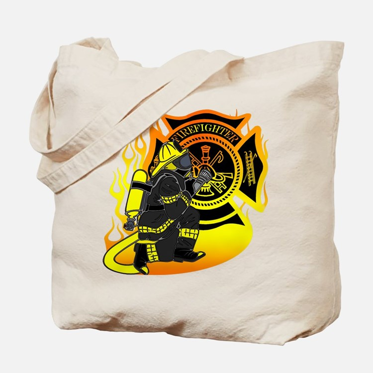 Firefighter With Maltese Cross Tote Bag