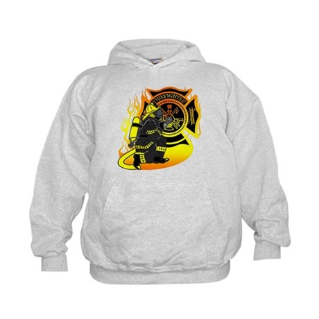 Firefighter With Maltese Cross Kids Hoodie