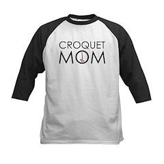 Croquet Mom Kids Baseball Jersey