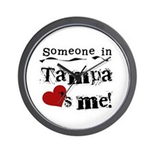 Tampa Loves Me Wall Clock