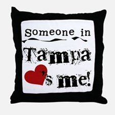 Tampa Loves Me Throw Pillow