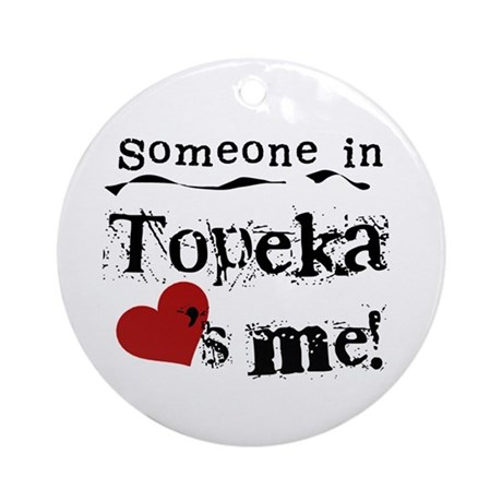 Topeka Loves Me Ornament (Round)