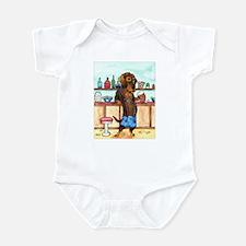 Wirehair Weiner Lederhosen Infant Bodysuit