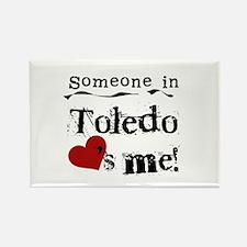 Toledo Loves Me Rectangle Magnet