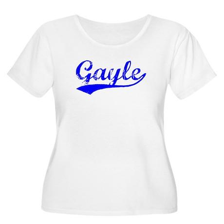 Vintage Gayle (Blue) Women's Plus Size Scoop Neck