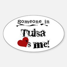 Tulsa Loves Me Oval Decal