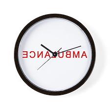 EMS Rights Ambulance Back Wall Clock