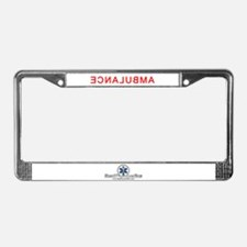 EMS Rights Ambulance Back License Plate Frame