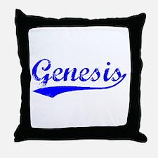 Vintage Genesis (Blue) Throw Pillow
