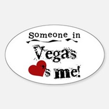 Vegas Loves Me Oval Decal