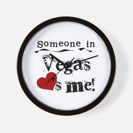 Vegas Loves Me Wall Clock