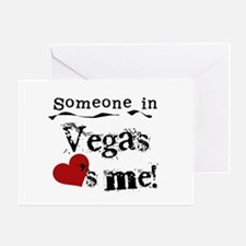 Vegas Loves Me Greeting Card