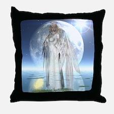 Moon Angel Throw Pillow