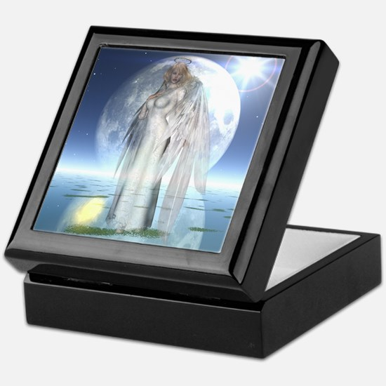 Moon Angel Keepsake Box