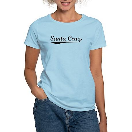 Vintage Santa Cruz (Black) Women's Light T-Shirt