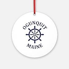 Summer ogunquit- maine Round Ornament