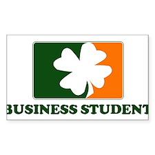 Irish BUSINESS STUDENT Rectangle Decal