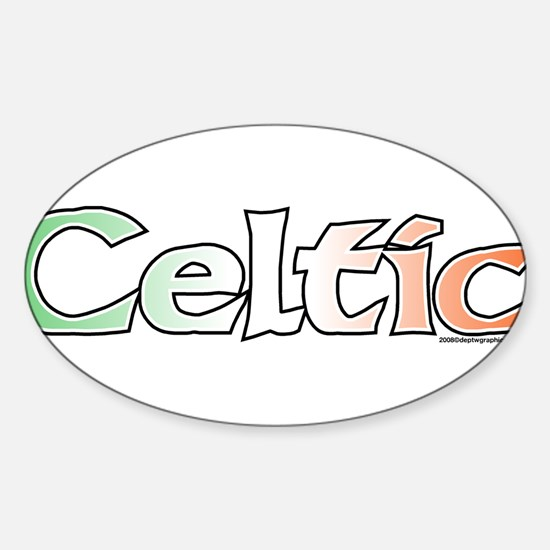 Celtic with Flag Oval Decal