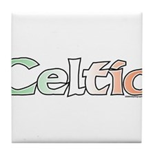Celtic with Flag Tile Coaster