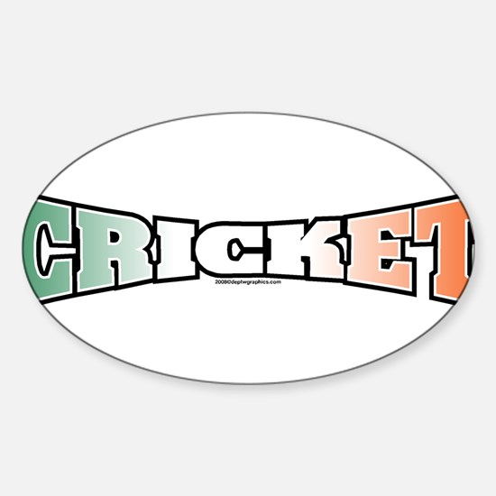 Cricket with Flag Oval Decal
