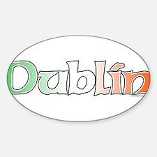 Dublin with Flag Oval Decal